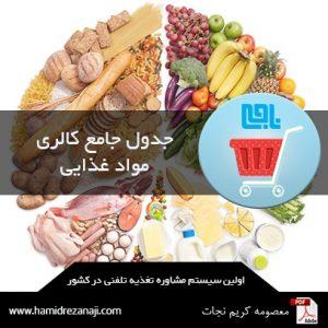 جدول جامع مواد غذایی